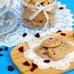 Ванильное печенье с клюквой