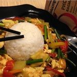 Тофу по-японски с овощами и рисом