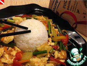 Рецепт Тофу по-японски с овощами и рисом