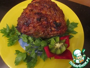 Рецепт Свинина, запеченная в маринаде из киви с брусникой