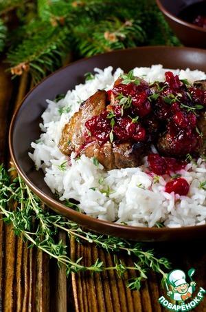 Рецепт Запеченная свинина с клюквенным соусом