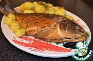 Рецепт Копченая рыба и курица с розмарином, в домашних условиях