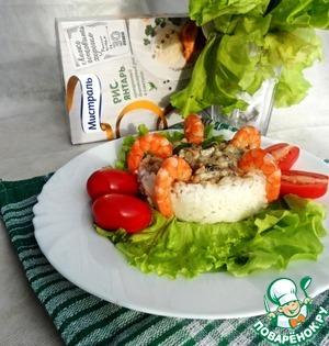 Рецепт Жюльен из кальмаров под грибным соусом