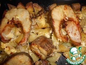 Рецепт Щука с картошкой, запеченные в духовке