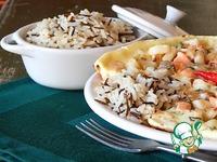 Омлет с кальмарами, рыбой и зеленью ингредиенты