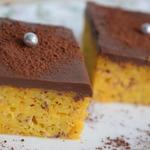Тыквенный пирог с шоколадной глазурью