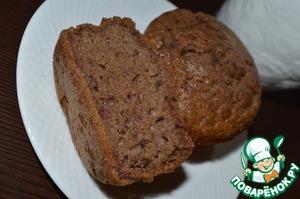Рецепт Шоколадные кексы с клюквой