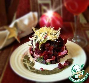 Рецепт Салат из свеклы с сельдереем и песто