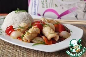 Рецепт Кальмар с овощами по-китайски