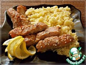 Рецепт Красная рыба в медовом маринаде