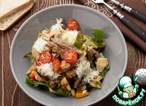 Рецепт Горячий салат «Гурман»