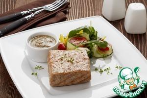Рецепт Тунец гриль с ореховым соусом