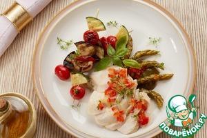 Рецепт Запеченное филе в винном маринаде с овощным шашлычком