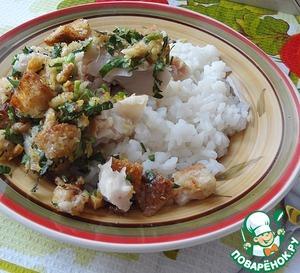 Рецепт Запеченный хек с ароматными сухариками