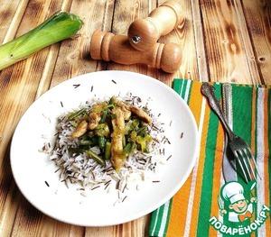 Рецепт Куриные грудки карри с пореем и стручковой фасолью