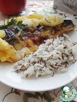 Рецепт Скумбрия в мармеладной глазури с яблоками