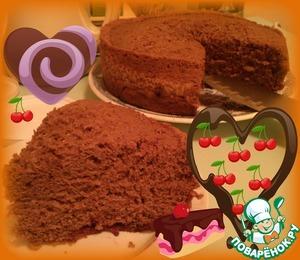 Рецепт Шоколадный пирог с вишней в мультиварке