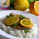 Тилапия с апельсином и рисом