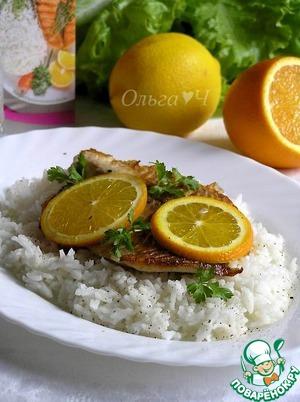 Рецепт Тилапия с апельсином и рисом