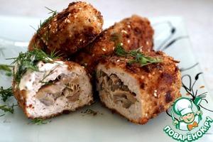 Рецепт Зразы куриные с грибами