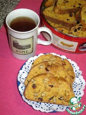 Пряные бискотти с тыквой вкусный рецепт с фото пошагово как приготовить