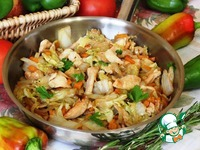 Пекинская капуста с курицей на сковороде ингредиенты