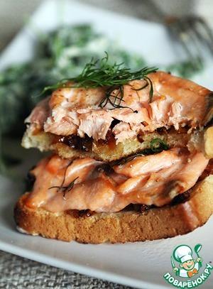 Рецепт Горячие бутерброды с лососем