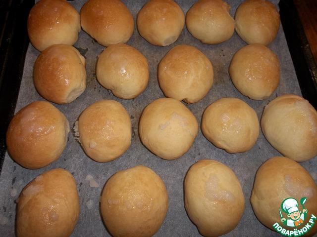 рецепт булочек с сахаром в духовке рецепт