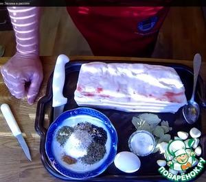Рецепт Соленое сало в рассоле