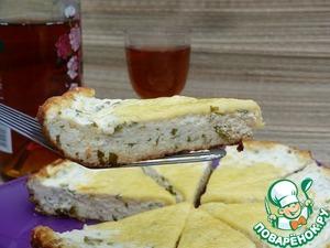 Рецепт Творожная запеканка с зеленью и сыром
