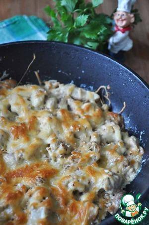 Рецепт Куриная грудка в винно-грибном соусе