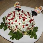 Салат с бараниной