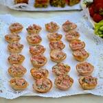 Хлебные корзиночки с томатным конкассе