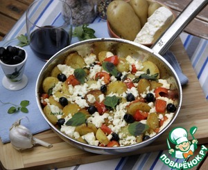 Рецепт Картофельная сковорода по-гречески