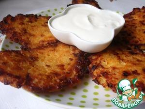 Рецепт Биточки из рисовых хлопьев с жареным луком и плавленным сыром