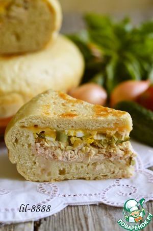 Рецепт Деревенский хлеб с начинкой