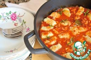 Рецепт Ньокки в томатном соусе с курицей