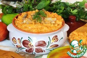Рецепт Каша на рёбрышках из капусты и хлопьев