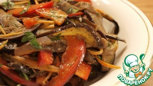 Рецепт Баклажаны по-корейски-Видео рецепт