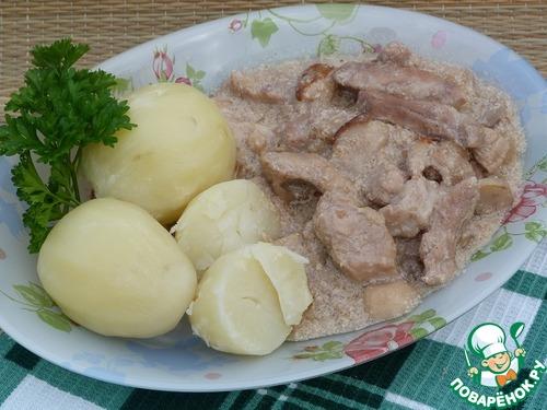 Свинина с грибами в мультиварке рецепты с пошагово