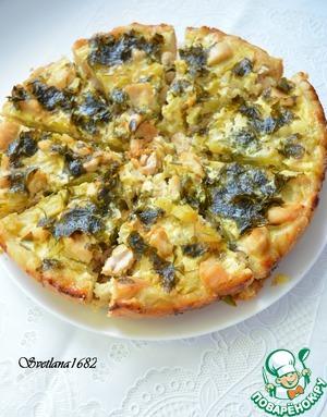 Рецепт Открытый пирог с кабачком и курицей