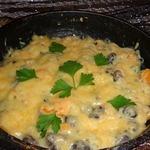 Картофель, тушеный в сковороде с фасолью