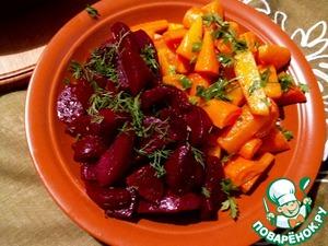 Рецепт Запеченная пряная морковь и свекла