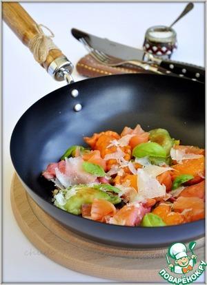 Рецепт Вареники с картошкой, жареными грибами и слабосоленой рыбой