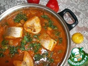 Рецепт Рыба в томатно-овощном соусе