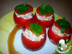 Рецепт Помидорки, фаршированные кальмарами