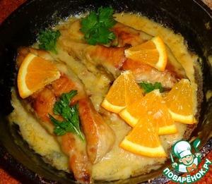 Рецепт Карп, тушеный в апельсином соусе