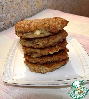 Рецепт Мультизлаковые оладушки с сырной начинкой