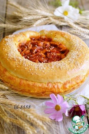 Рецепт: Пирог с сыром и курицей