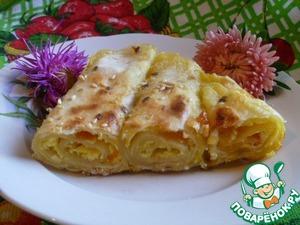 Рецепт Пирог из лаваша с творогом и тыквой